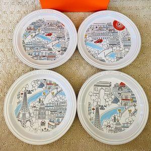 Le Creuset Paris Collection Plates Set of 4
